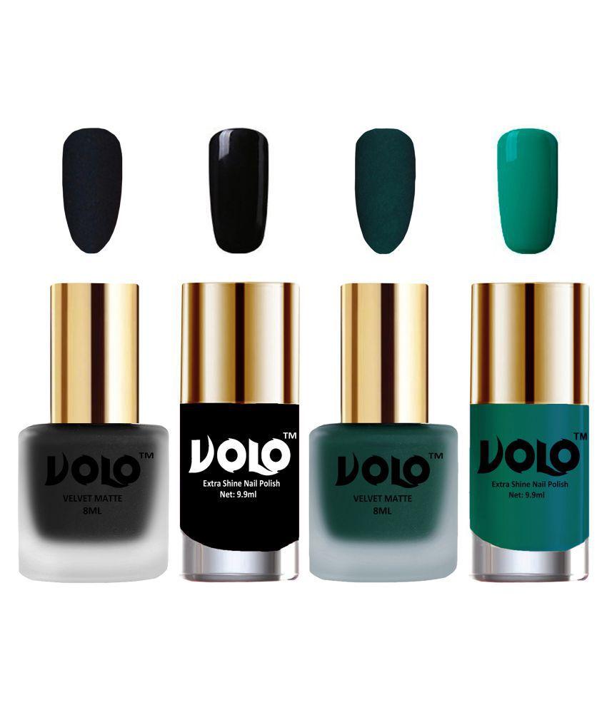 VOLO Extra Shine AND Dull Velvet Matte Nail Polish Black