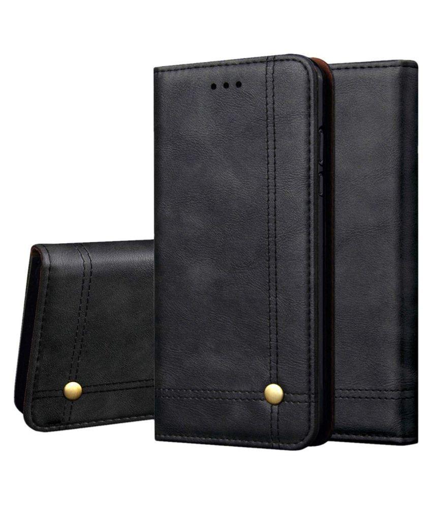 Xiaomi Redmi 7 Flip Cover by NKARTA - Black