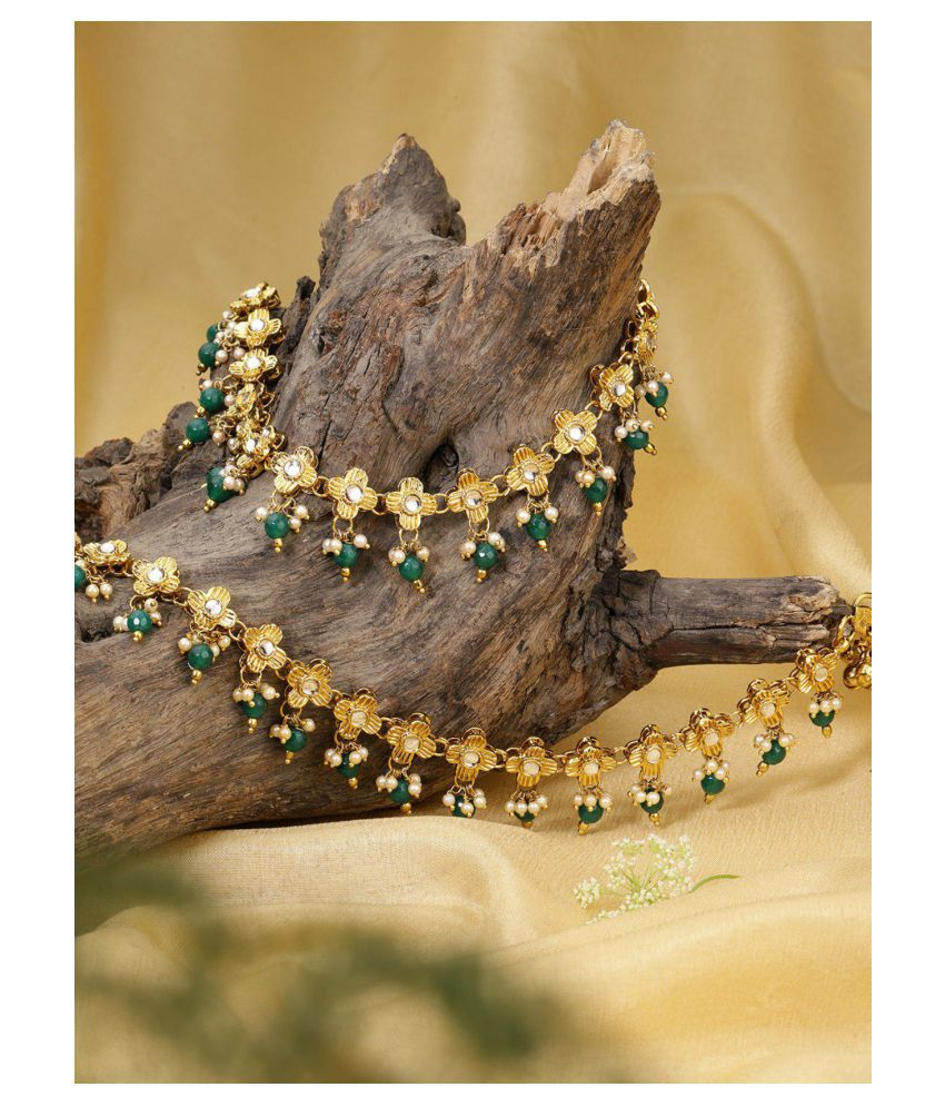 Priyaasi Set Of 2 18K Gold-Plated Kundan Stone-Studded For Women And Girls
