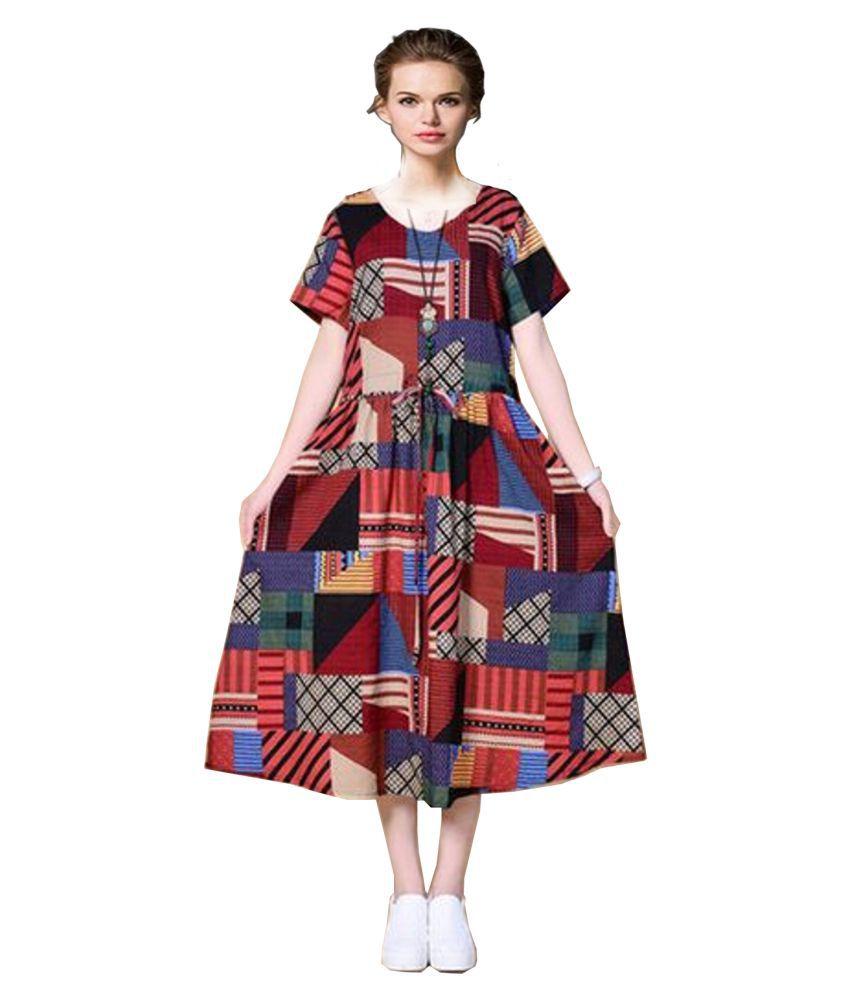 Ritsila Multi Color Cotton Jumpsuit