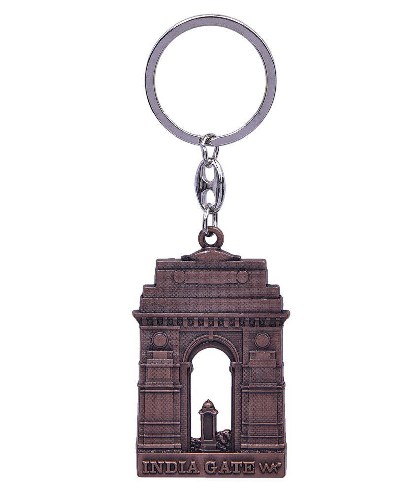 Hazzlewood india gateway pack of one metal keychain