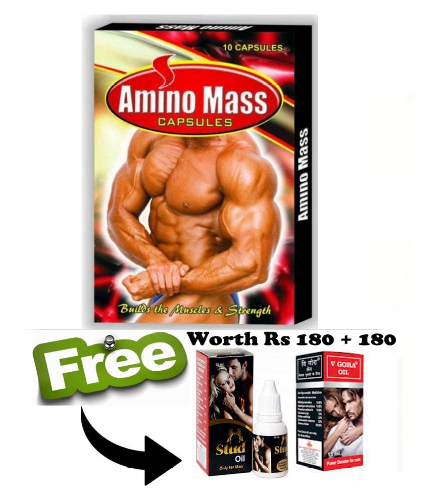 Ayurveda Cure Amino Mass Capsule (10x10=100 Capsules) 100 no.s Unflavoured