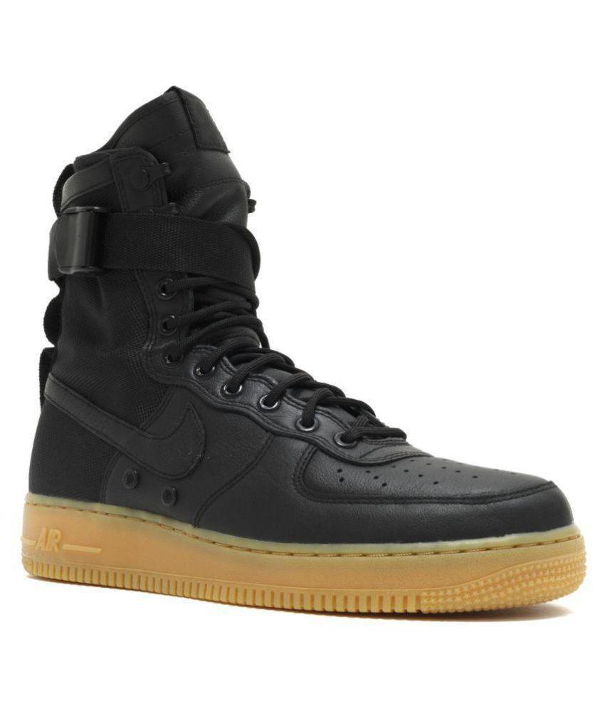Nike Air Force SF1 Black Running Shoes