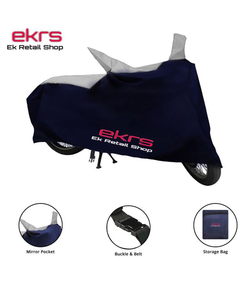 Ek Retail Shop Blue/Grey Bike Body Cover for Monsoon - Water-Resistant, Dustproof, UV Guard -  for Honda Aviator