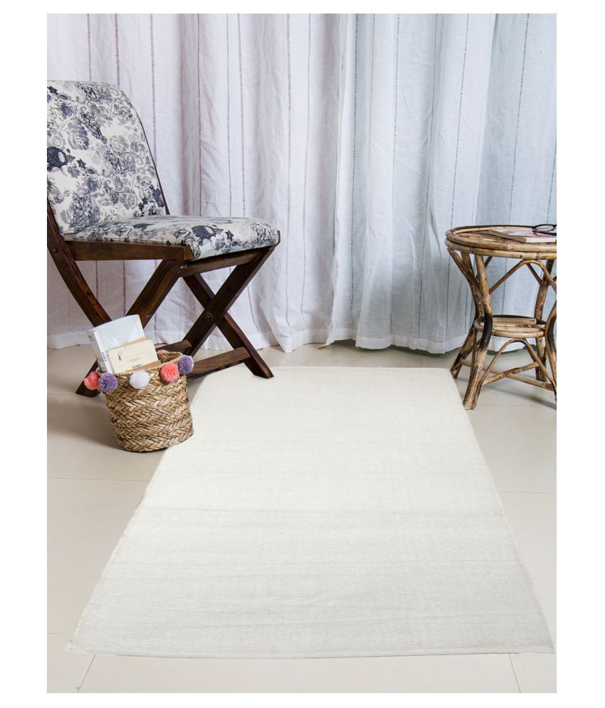 Dhrohar Beige Runner Single Cotton Plain Other Sizes Ft