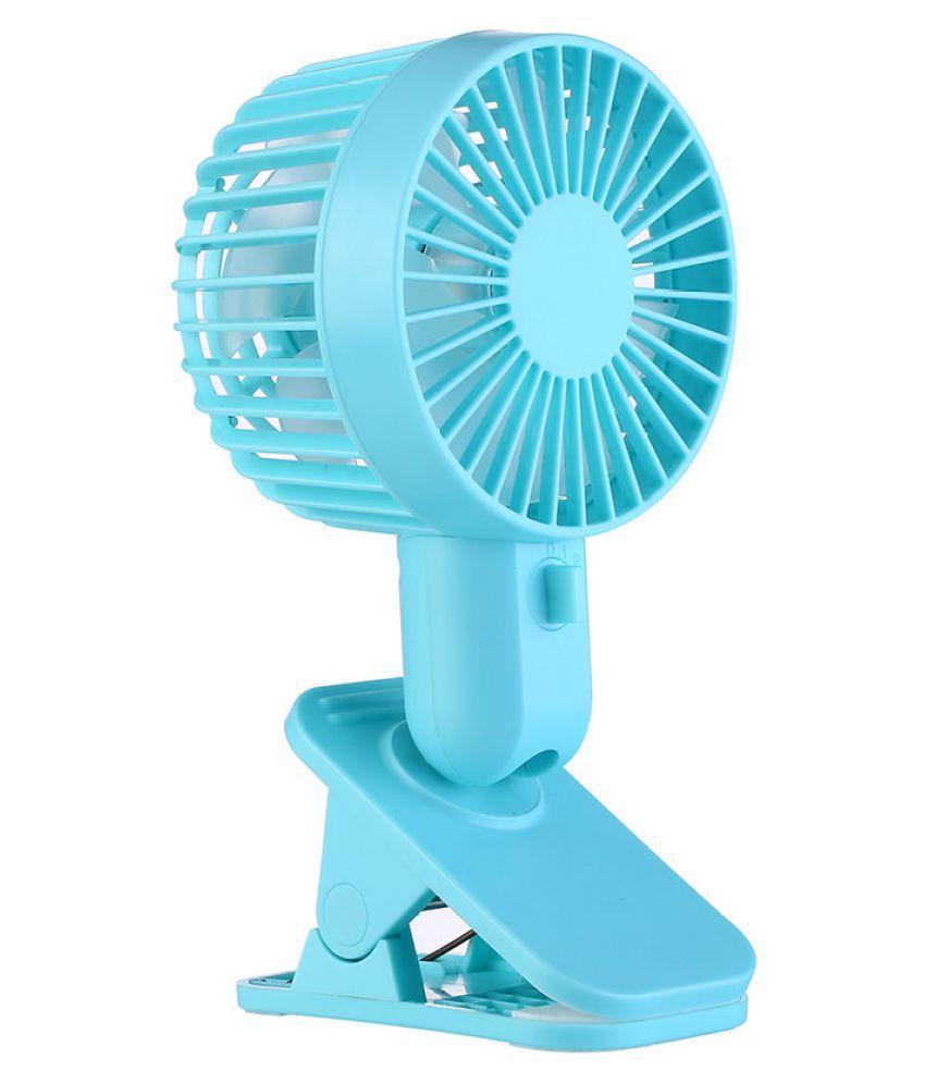 Protable Double Turn Leaves Fan Electric Fan USB Table Stand Fan 2-Speed Wind