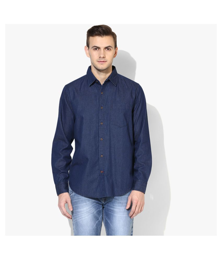 Red Chief 100 Percent Cotton Blue Solids Shirt