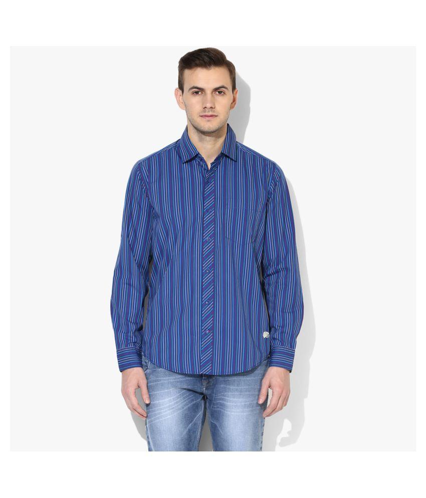 Red Chief 100 Percent Cotton Blue Stripes Shirt