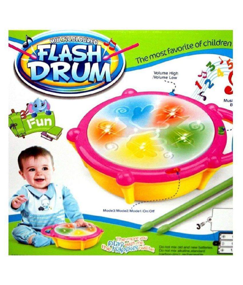 Multicolour Musical Flash Drum for Kids