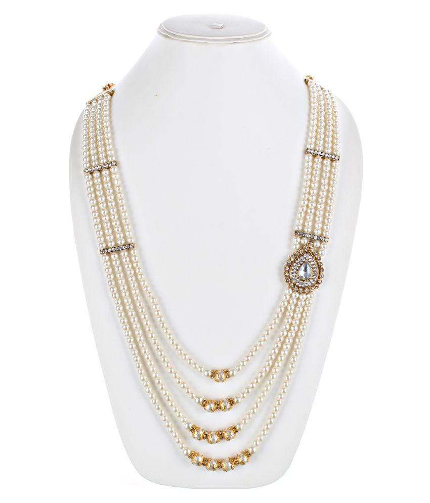 LUCKY JEWELLERY White Alloy Chains