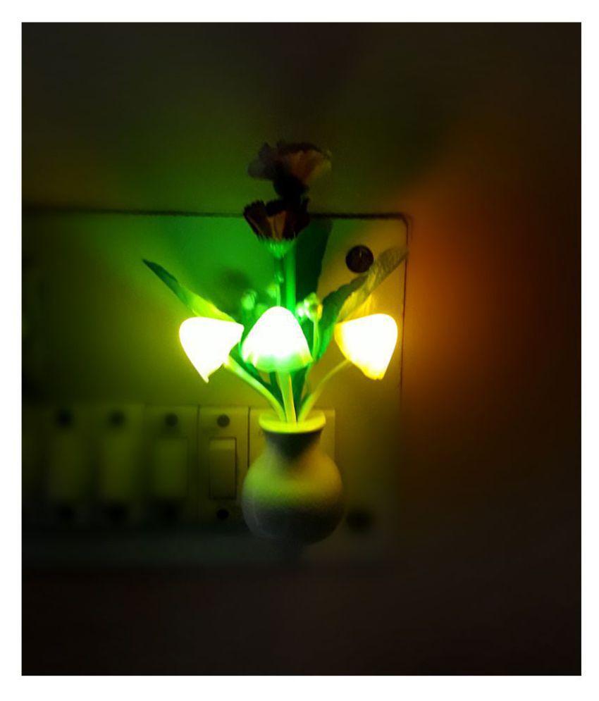 WingsWare BUNCH Stylish Mushroom Shape Automatic Sensor LED Color Changing Light Night Lamp Multi - Pack of 1 Night Lamp Multi - Pack of 1