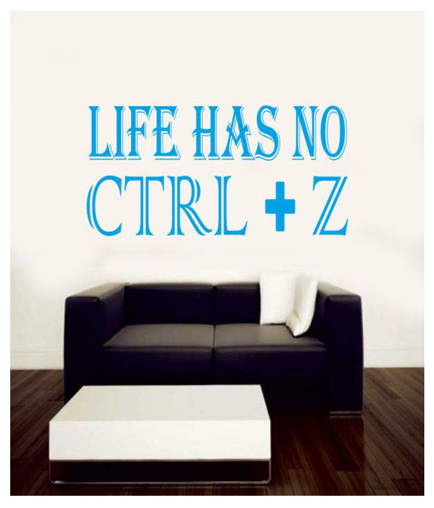Ritzy Ctrl Z Wall Quotes Decal Motivational Quotes Sticker 60 x 30 cms