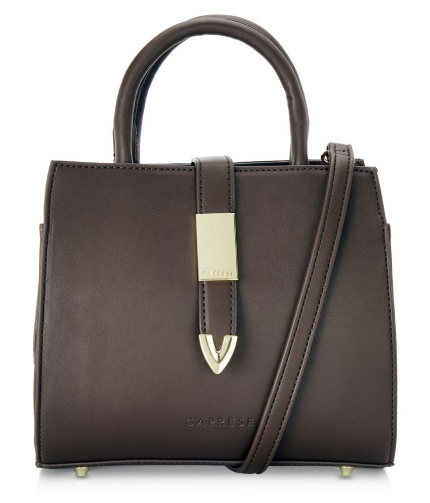 Caprese Brown Faux Leather Tote Bag