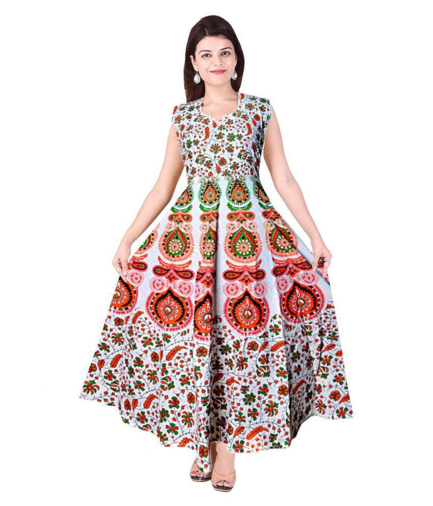 Rangun Cotton Beige Regular Dress