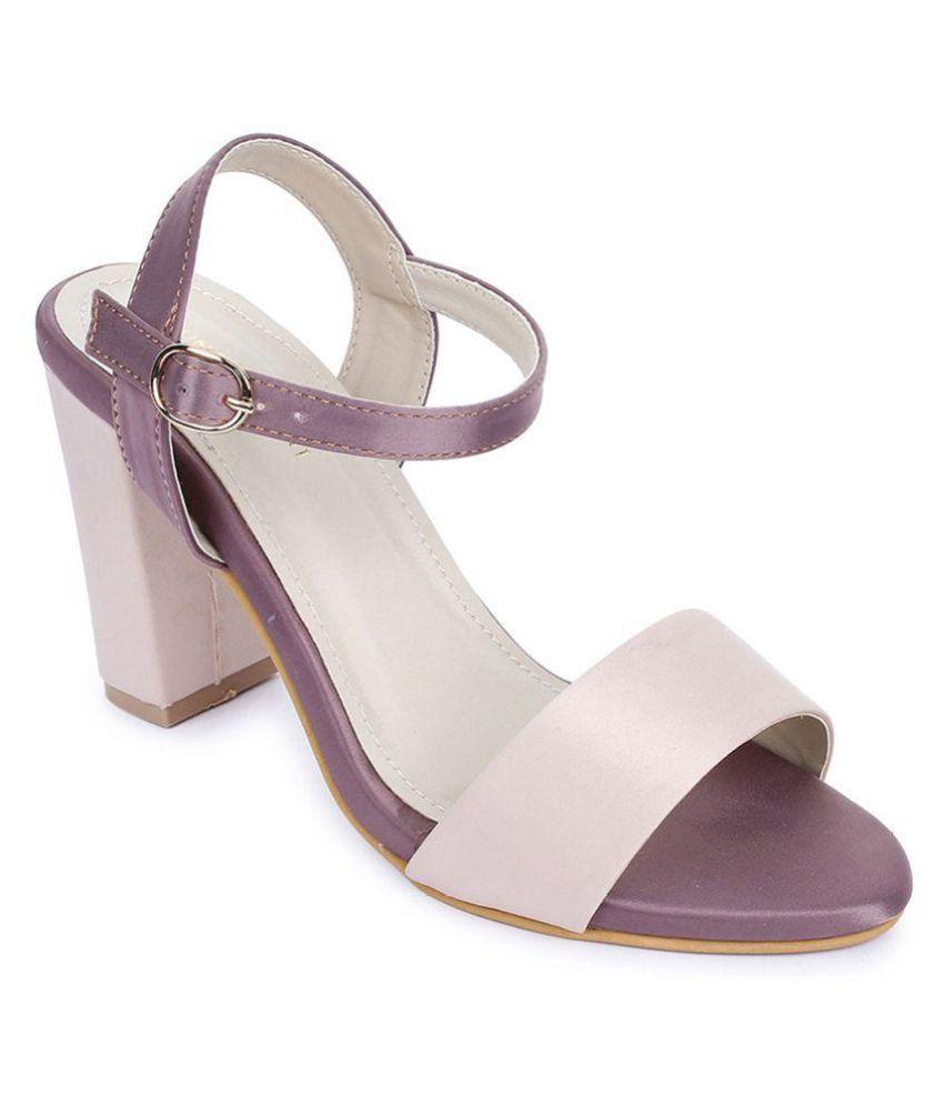 Bruno Manetti Pink Block Heels