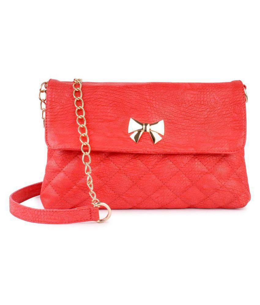 DC CONCEPTS Red P.U. Sling Bag
