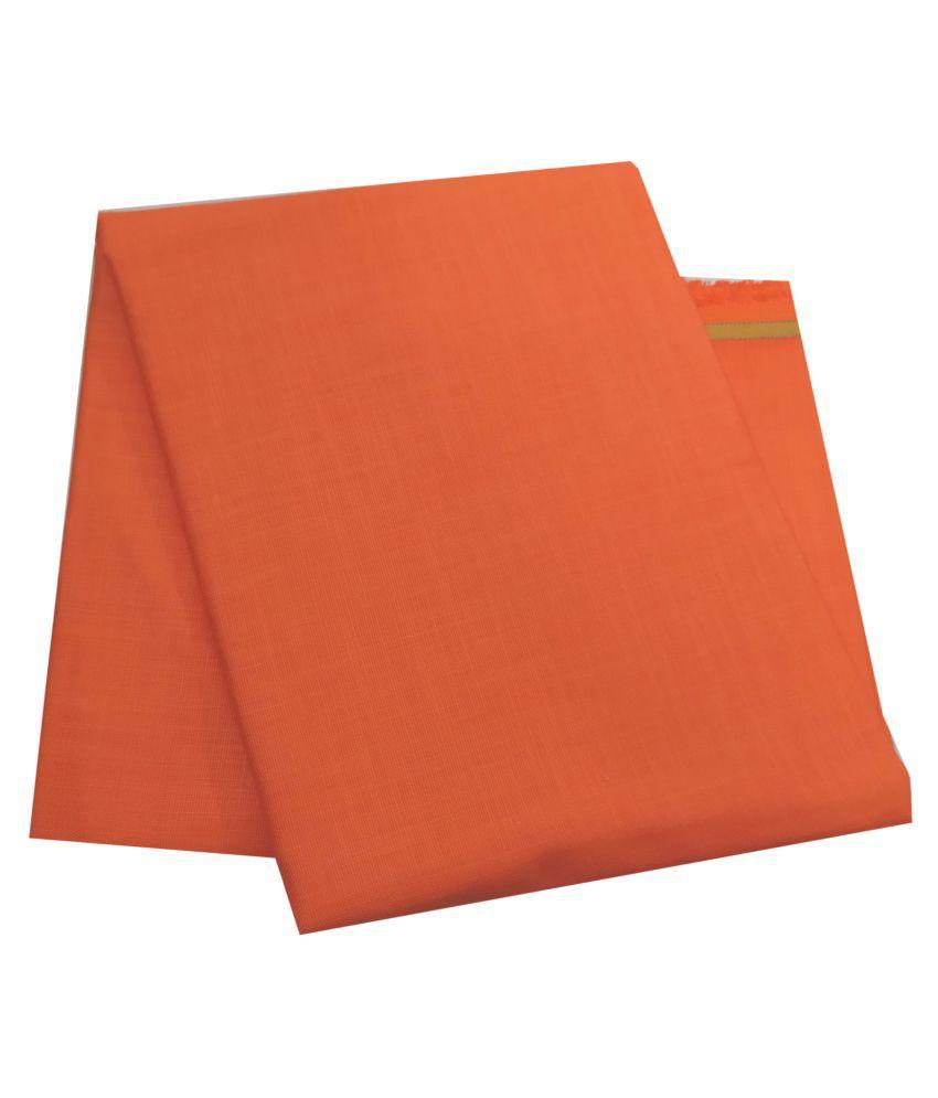 CRAFT LEE Orange Linen Blended Unstitched Shirt pc
