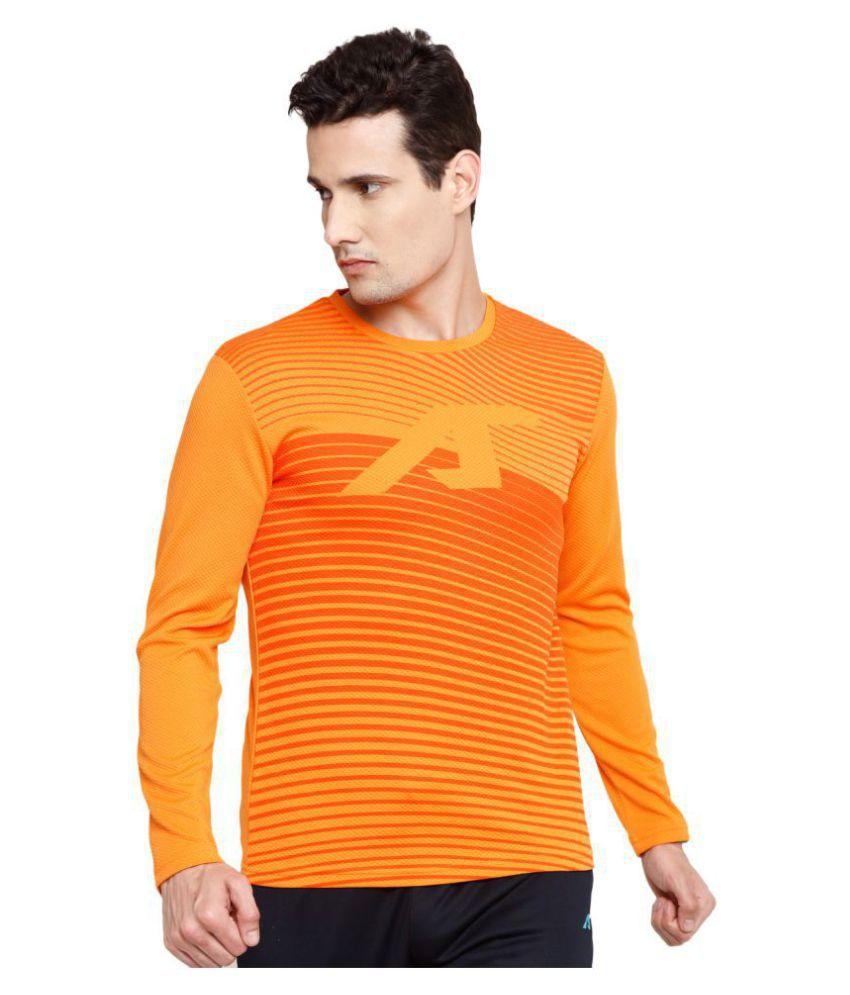 Alcis Orange Polyester Fleece Sweatshirt