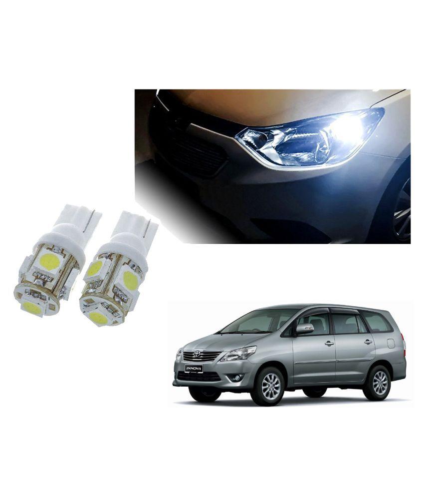 Auto Addict Car T10 5 SMD Headlight LED Bulb for Headlights,Parking Light,Number Plate Light,Indicator Light For Toyota Innova