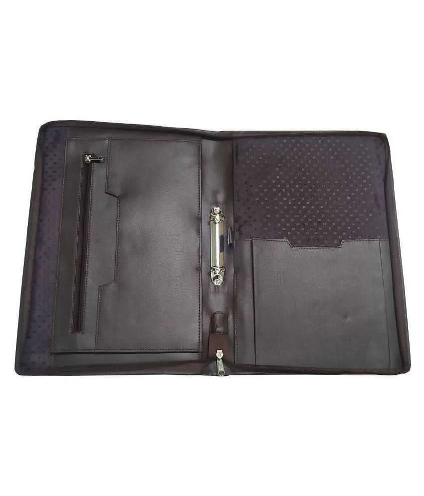 Aux Leather 2 Ring Binder Clip File Folder, Certificate