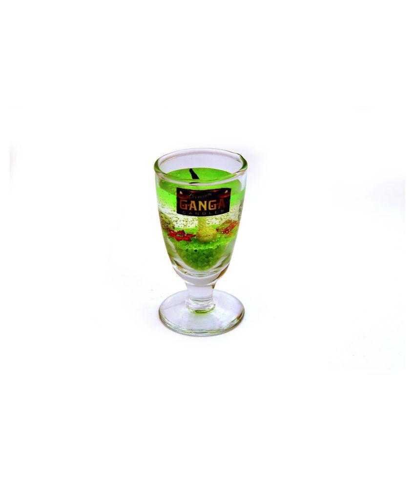 premium ganga Green Jar Candle - Pack of 3