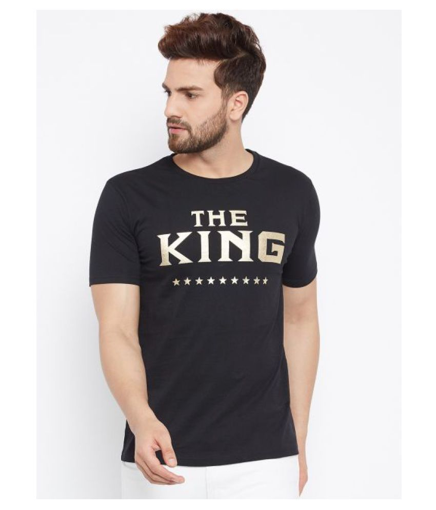 Bombay Clothing Company Cotton Blend Black Printed T-Shirt