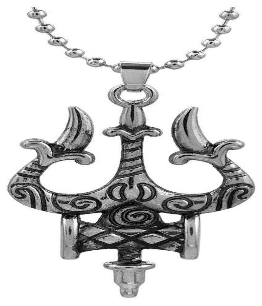 Lord Shiv Trishul Damru Locket Pendant for Men and Women pack of-1