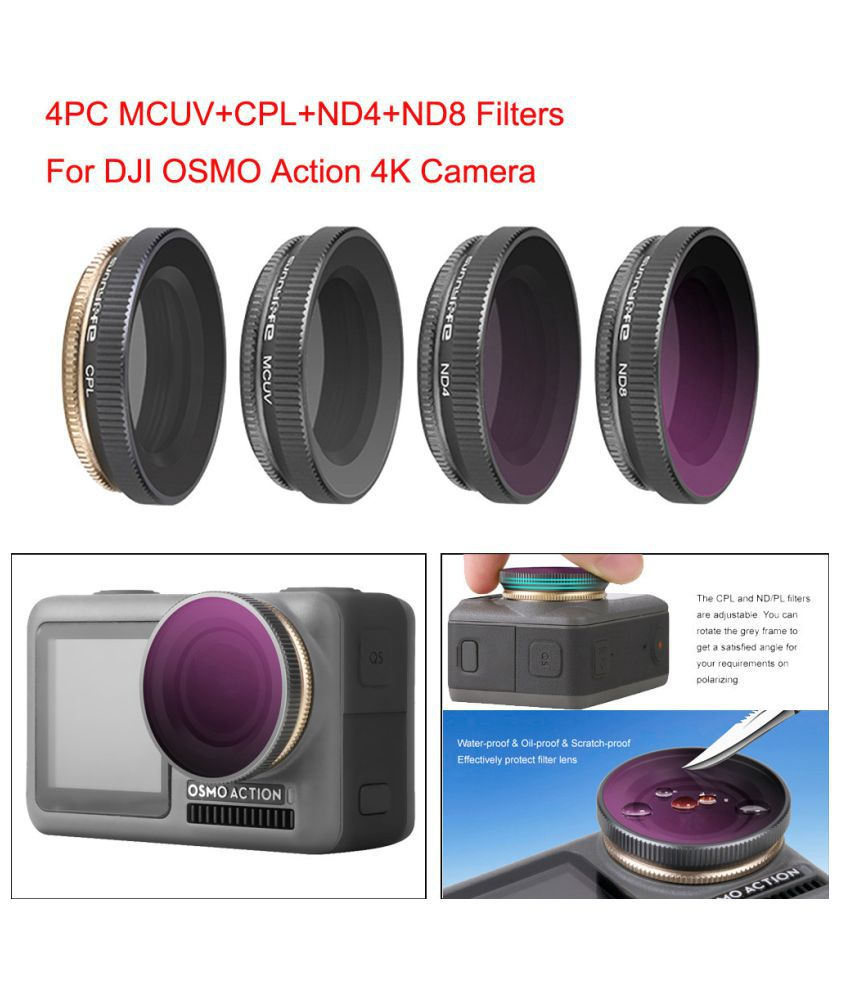 4pc Snnylife Mcuv Cpl Nd4 Nd8 Camera Lens Filters For Dji Osmo