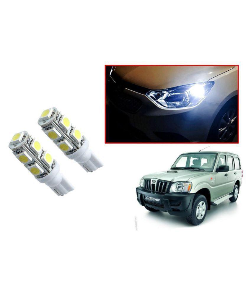Auto Addict Car T10 9 SMD Headlight LED Bulb for Headlights,Parking Light,Number Plate Light,Indicator Light For Mahindra Old Scorpio