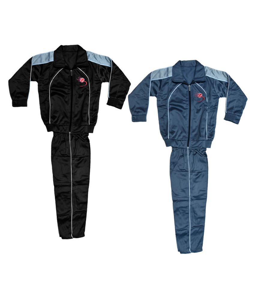 KAYU Boys and Girls Polyester Warm Winter Wear Track Suits (Pack of 2)