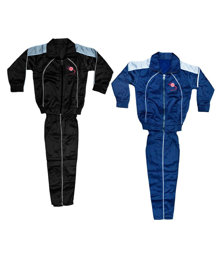 IndiWeaves Boys and Girls Polyester Warm Winter Wear Track Suits (Pack of 2)