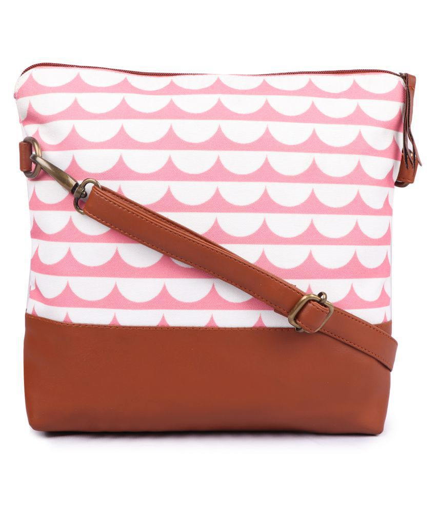 DC CONCEPTS Pink Canvas Sling Bag