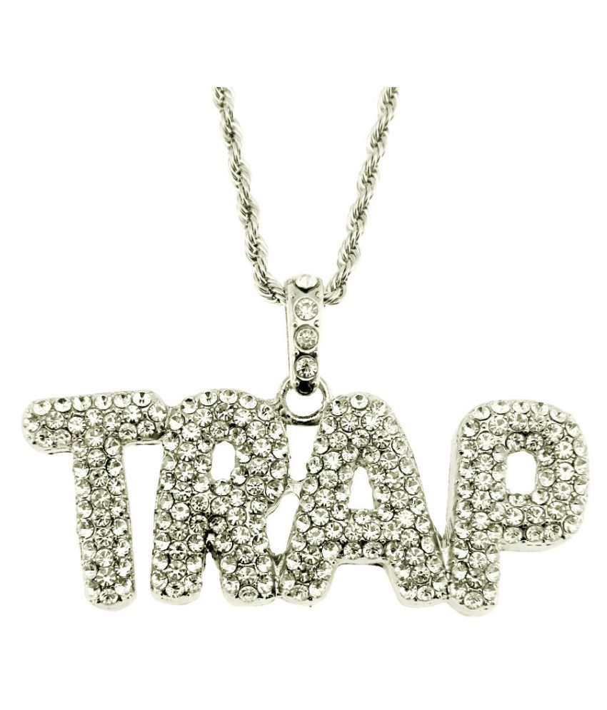 1PC Pendant + Necklace Silver-0.3*75cm twist chain