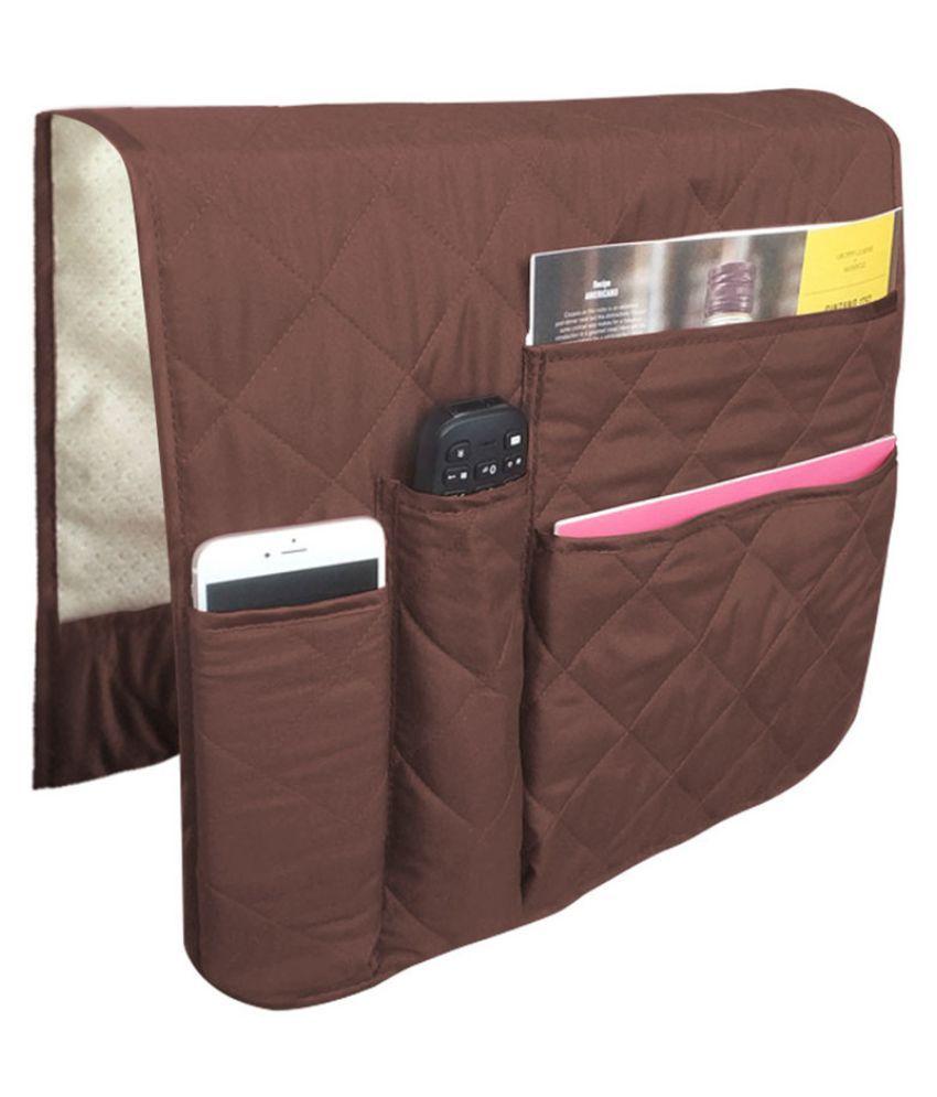 KM/_ Sofa Couch TV Remote Control Holder Armrest Organizer Storage Bag Pouch Pock