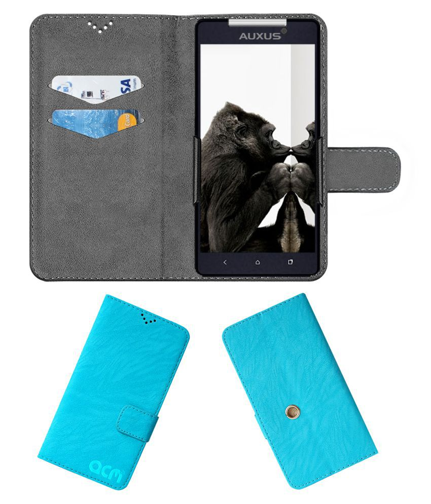 iBerry Auxus Nuclea N1 Flip Cover by ACM - Blue Clip holder to hold your mobile securely