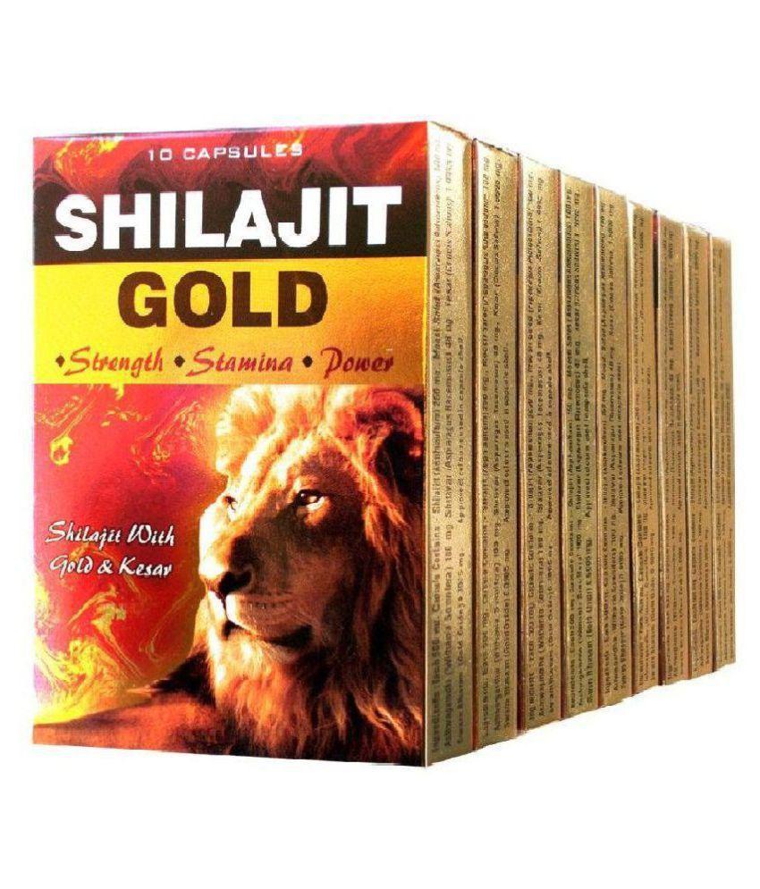 G & G Pharmacy Shilajit Gold (10x10=100) Capsule 10 no.s Pack Of 10