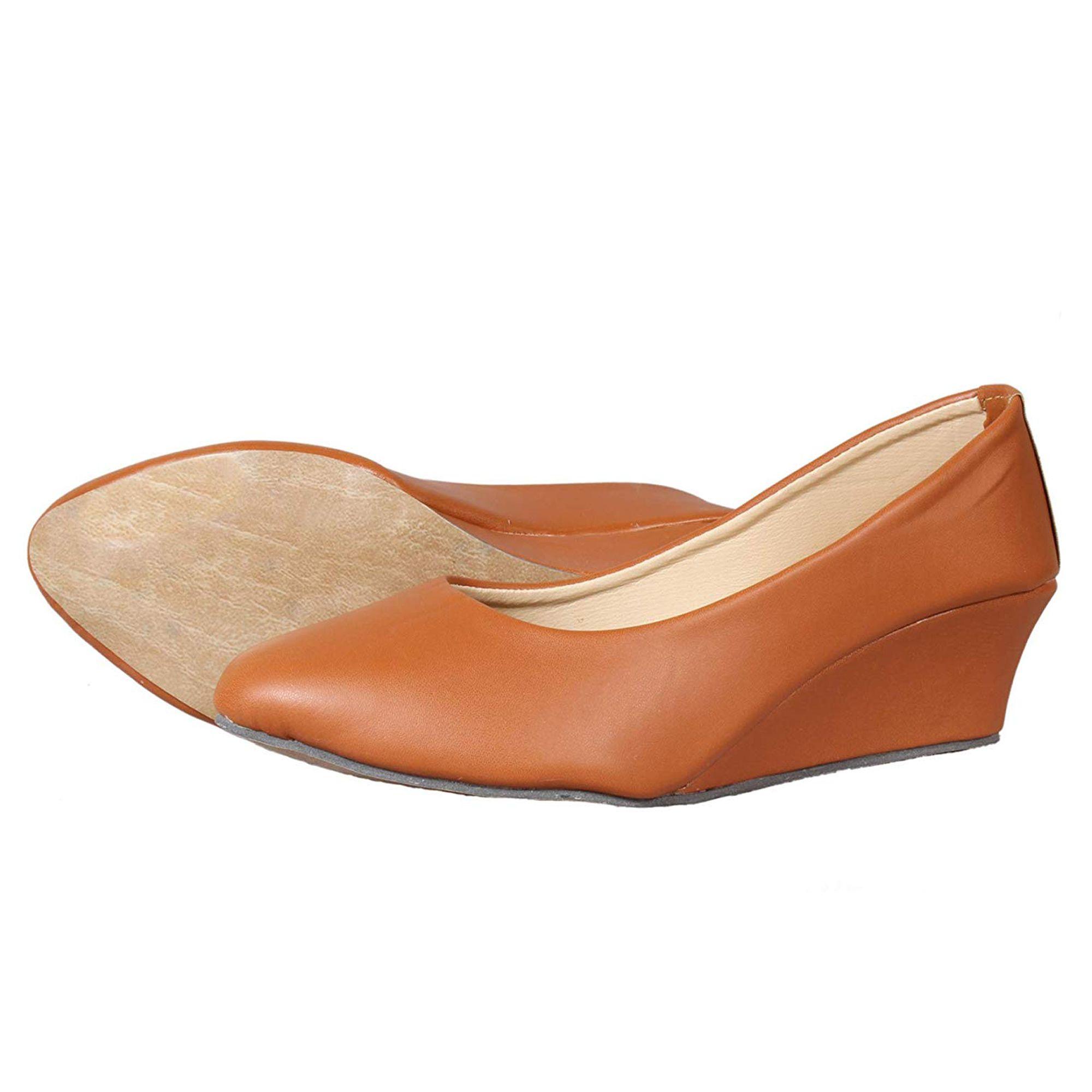 Thari Choice Tan Wedges Heels