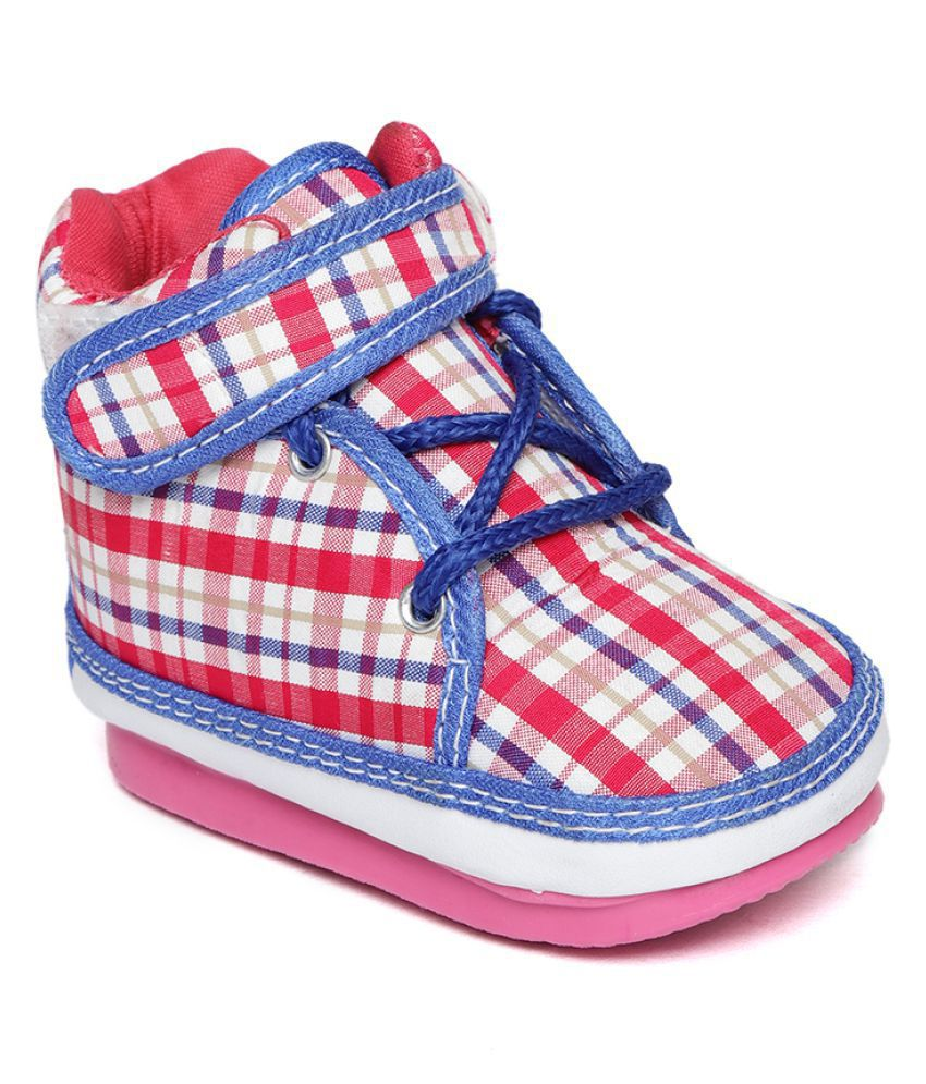 Synthetic Leather Baby Shoes with PVC Anti-Slip Sole Suitable for Both boy and Girl