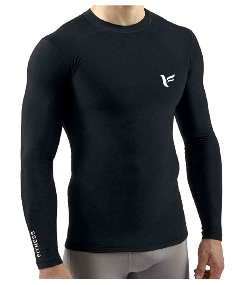 Zexer Men's Compression T-Shirt Top Base Layer Full Sleeve T-Shirts Sport Tight T-Shirts Cool Dry