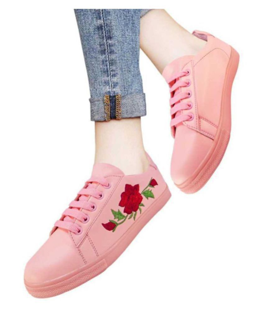 Action Pink Casual Shoes