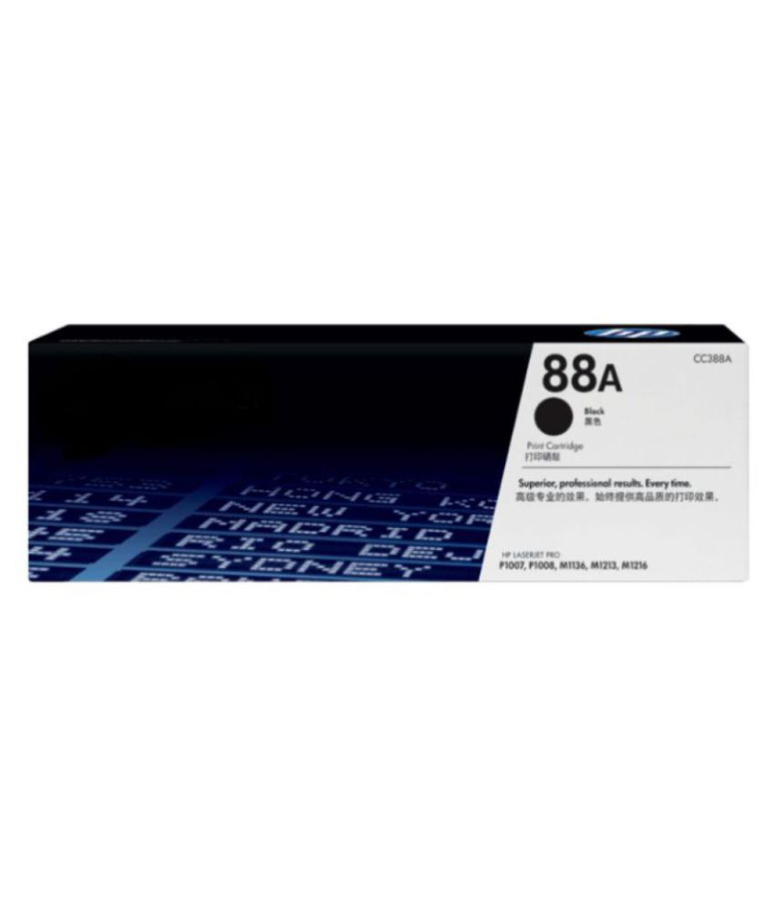 HV INFOTECH 88A TONER CARTRIDGE Black Single Toner for HP LaserJet Pro P1106, P1108, M1136 MFP, M1213nf MF, m126nw