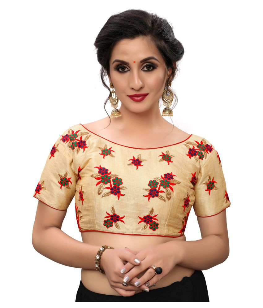 Shubh Sanidhya Multicoloured Silk Readymade with Pad Blouse