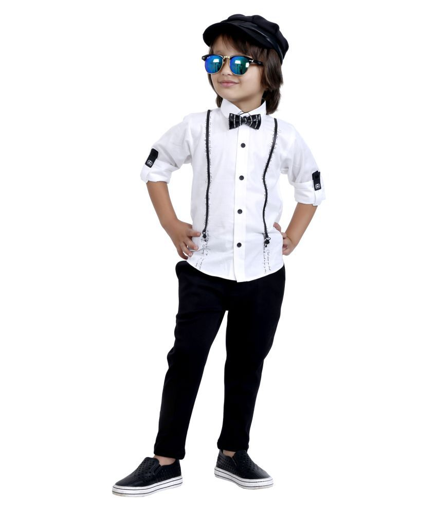 Bad Boys Comfortable yet stylish evening party outfit with a bow.