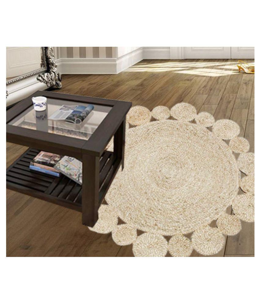 Handmakers Beige Single Floor Mat