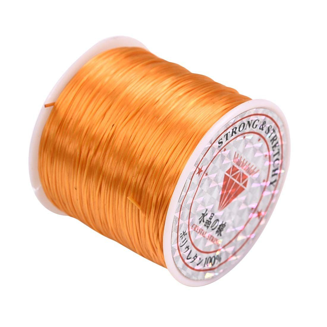 0.8mm Orange Elastic Cord Thread for Jewelry and Bracelet Making