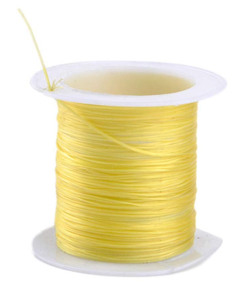 0.8mm Yellow Elastic Cord Thread for Jewelry and Bracelet Making