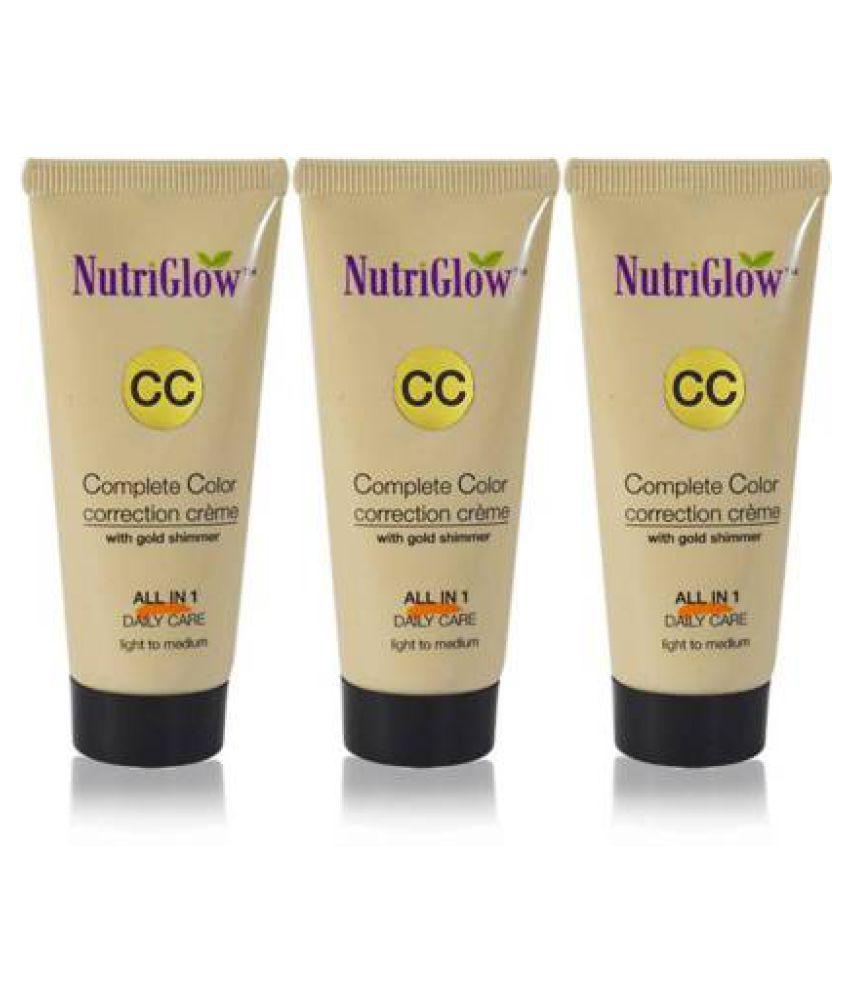 Nutriglow CC Cream Foundation Light Pack of 3 50 g