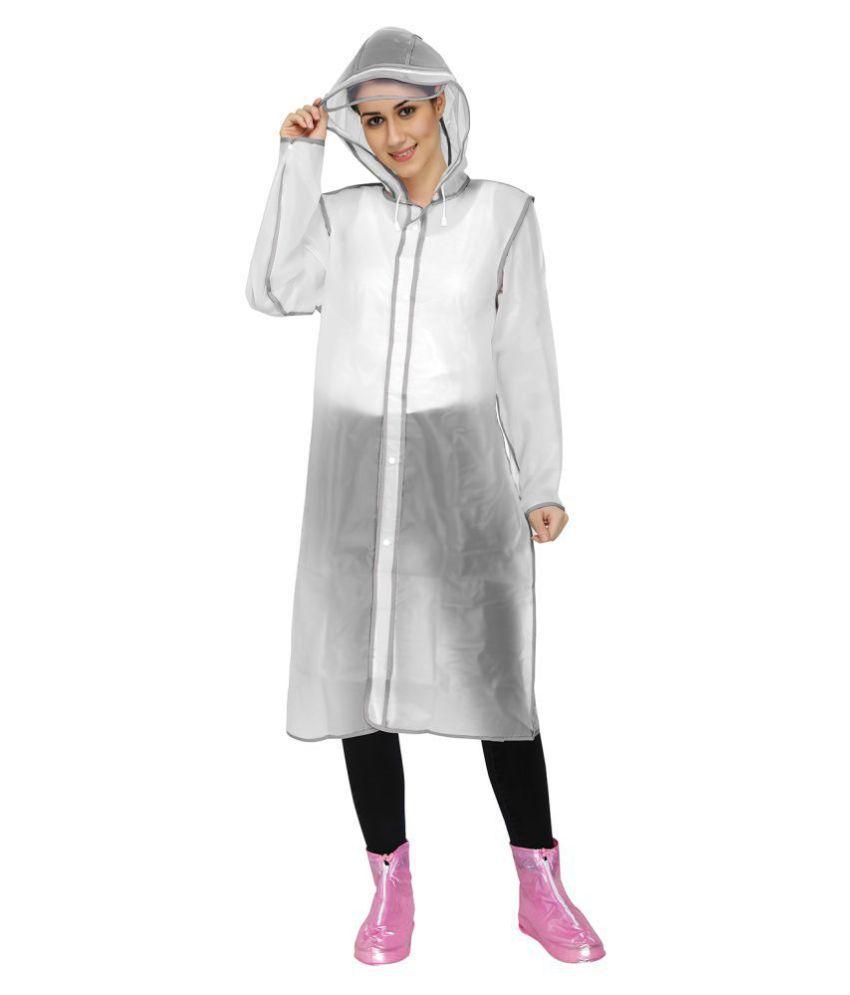 Smarte Waterproof Long Raincoat - Off White