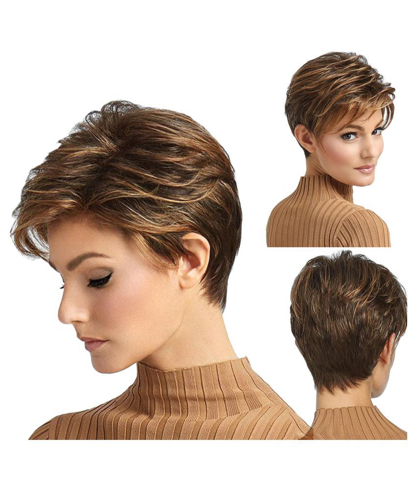 wigs gradient synthetic fiber short curly hair full wigs for