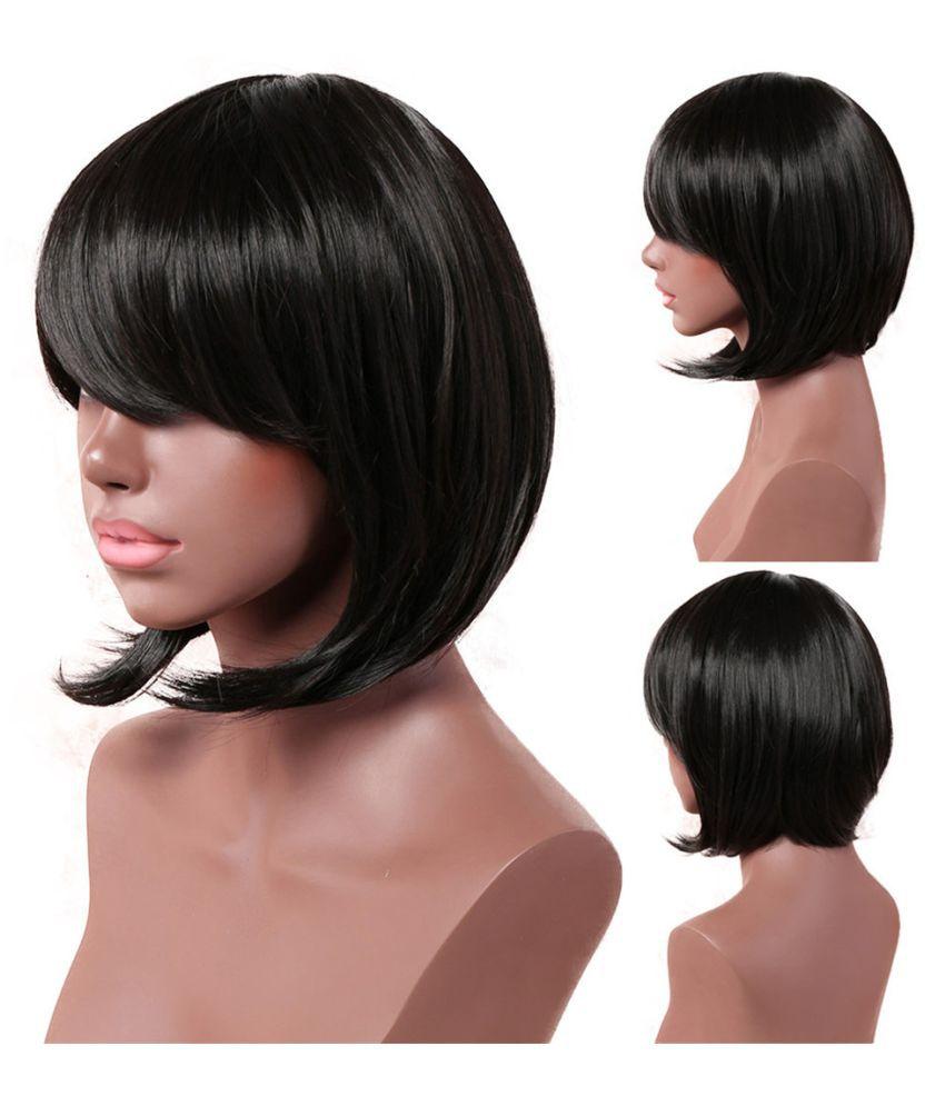 Black Short Straight Women Ladies Daily Natural Hair Wig Buy Black Short Straight Women Ladies Daily Natural Hair Wig At Best Prices In India Snapdeal